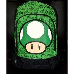 Nintendo Handbags - Nintendo One Up Green and Black Backpack