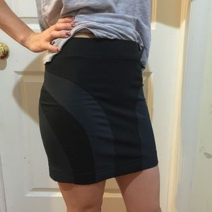 All Saints Navy Black Zipper Skirt