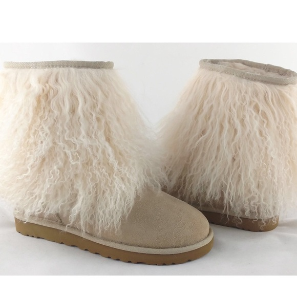 Model New Style UGG 5854 Fox Fur Boots Women Mini Boots White UGG