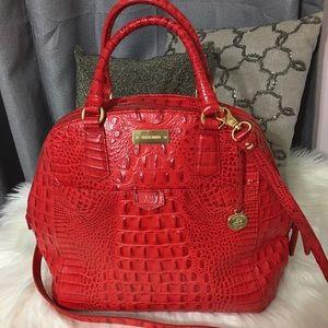 Brahmin Handbags - Brahmin Red Croc Satchel