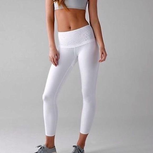 Lululemon - **SOLD** Lululemon Free Spirit white leggings ...
