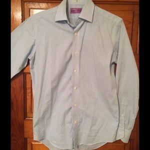 Lorenzo Uomo Other - Men's Blue checkered dress shirt Nordstrom