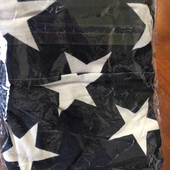977d66262f79f LuLaRoe Pants | Black And White Stars And Stripes Legging | Poshmark