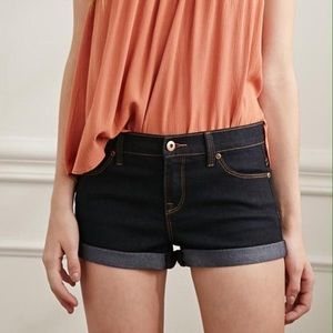 Forever 21 Cuffed Low Rise Denim Shorts
