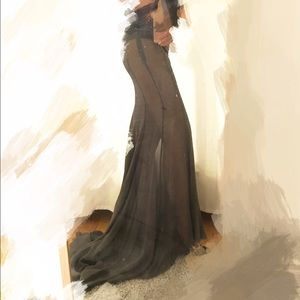 Haider ackermann Dresses & Skirts - Haider Ackermann chiffon maxi mermaid skirt
