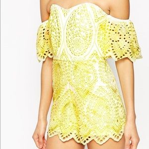 Asos Summer yellow romper