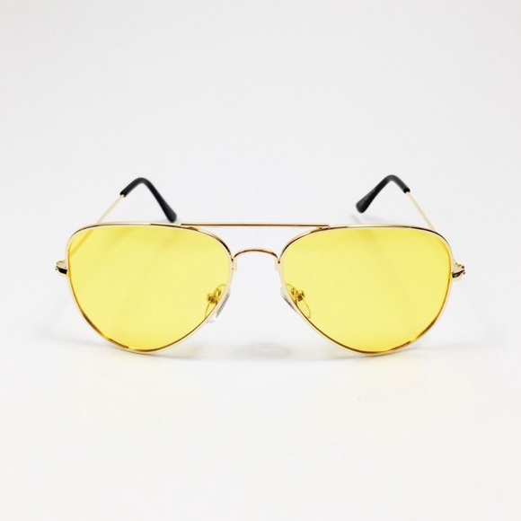 74c5b157bb7 Acne Accessories - 70s vintage style yellow gold aviators