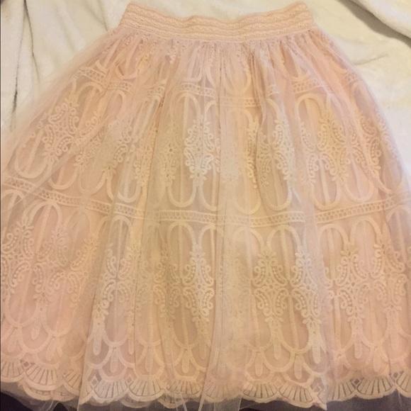 d8eaefa885 Francesca's Collections Skirts | Pink Tulle Skirt | Poshmark