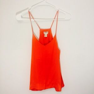 H&m conscious silky-soft deep red orange tank