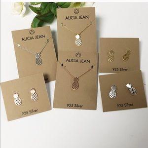 Alicia Jean sterling silver pineapple earrings