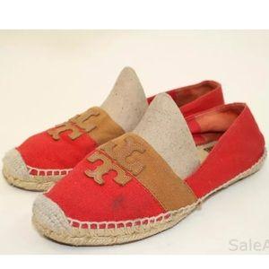 Red Canvas Espadrilles Slip-ons