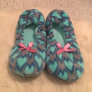 Shoes - NWT - Cute Fuzzy Slipper Socks with Hearts