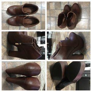High heel platform booties
