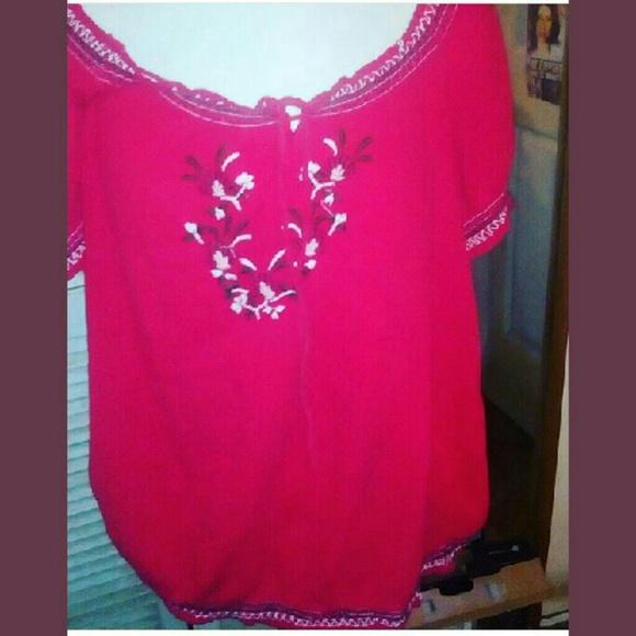 Tops   Mexican Peasant Blouse Plus Size   Poshmark