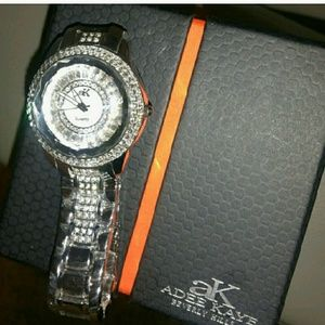 adee kaye Accessories - Adee kaye Beverly hills Crystal and silver watch