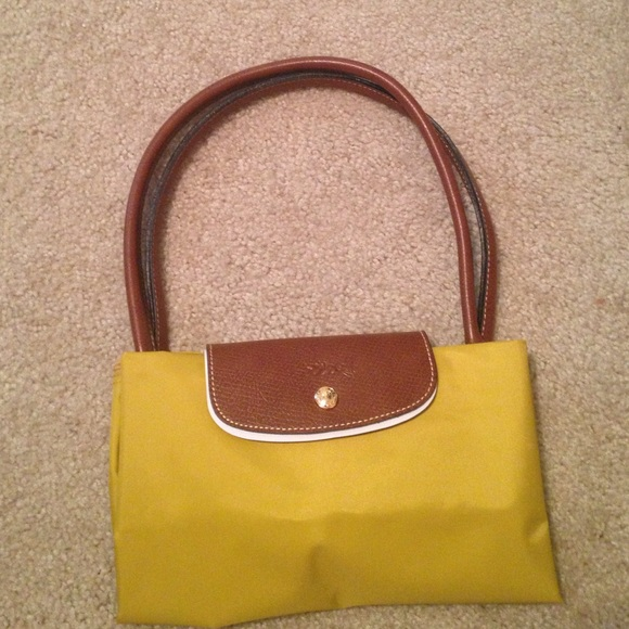 9b069e97d5 Longchamp Bags | Le Pliage Large Tote Longhandle Curry | Poshmark