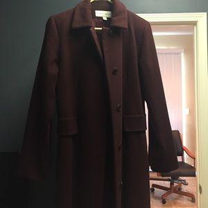 Jackets & Blazers - Cranberry color long wool coat size 2P