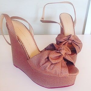 Charlotte Olympia Shoes - NWOT Charlotte Olympia wedge platforms
