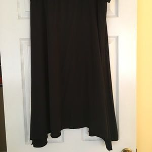 Allen Allen Dresses & Skirts - Knit skirt with fold down waist and hem on bias.