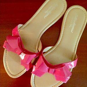 Sotto Sopra Shoes - Sandal Flip Flop Sz 9 SOTTO SOPRA Pink Bow