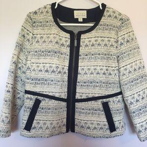Hinge blue tweed jacket