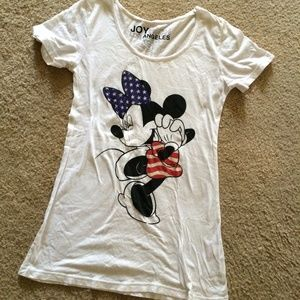Joyrich Tops - Joyrich white Minnie Mouse tee.