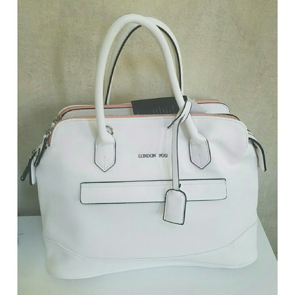 London Fog Bags Nwt White Satchel Tote Handbag Poshmark