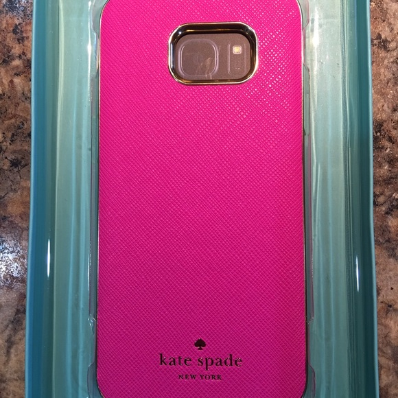 cheaper e7110 1eed1 Auth Kate Spade Leather Case for Galaxy S7 Edge NWT