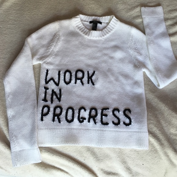 06f456d51e Forever 21 Sweaters - Forever 21  Work In Progress  sweater