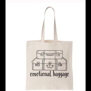 💓Emotional baggage canvas cotton tote.