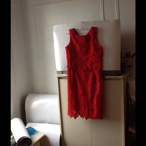 Dresses & Skirts - ADORABLE NWT SOCIOLOGY LACE RED DRESS