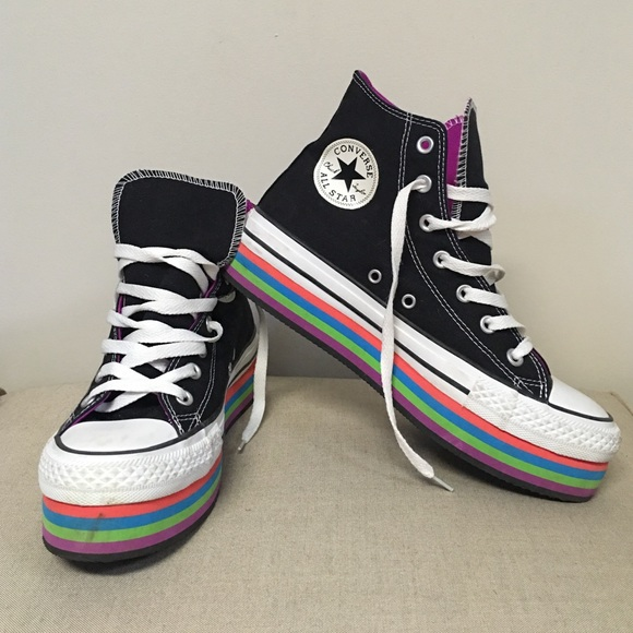 converse shoes rainbow