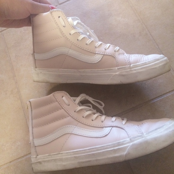 12ade73c0b Vans SK8 Hi Top Sneakers light pink. M 5772c9872de512d93b0311d3