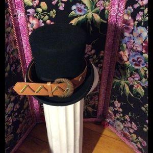 Vintage Accessories - genuine leather brown belt my new Hat trick