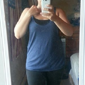 *3/$15* Navy jersey knit muscle tank