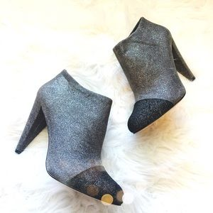 Vince Camuto Glitter Cap Toe Booties