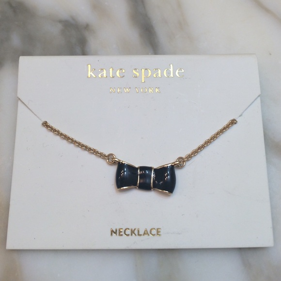 Kate Spade Pearl Bow Necklace: Kate Spade Black Bow Necklace