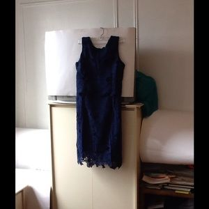 Dresses & Skirts - ADORABLE SOCIOLOGY NAVY NWT LACE BLUE DRESS
