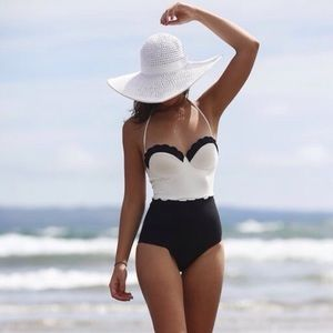 Topshop scalloped swimsuit