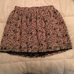 Forever 21 Flower print skirt