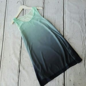 Ombre Mint to Emerald Tank Dress