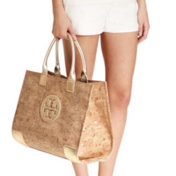 e0b426dafbe0 Tory Burch Large Cork Ella Tote Bag Gold. M 5772e0d6522b45e51800b545
