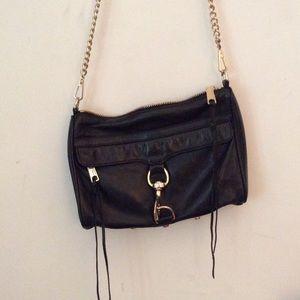 Rebecca minkoff classic black satchel bag