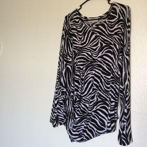MK Zebra Print Long Sleeve
