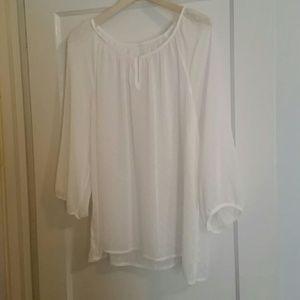White sheer merona blouse