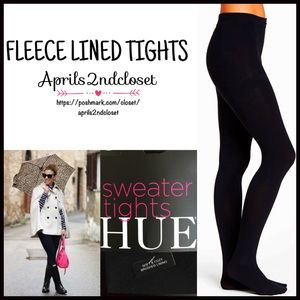 HUE Accessories - ❗1-HOUR SALE❗BLACK Fleece Lined SWEATER TIGHTS