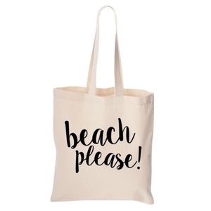 "Handbags - ""Beach please"" canvas tote"