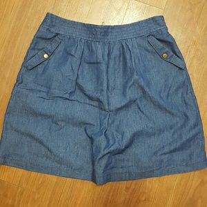 Denim skirt. Worn once! Like new! Great condition!