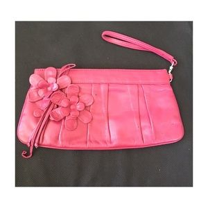 Isabella Fiore Leather Clutch