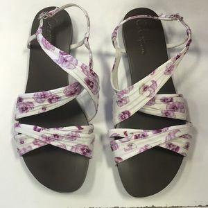 ColeHaan floral print sandals
